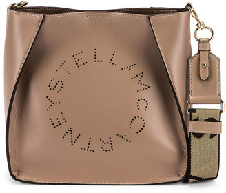 Stella McCartney Mini Leather Crossbody Bag in Moss | FWRD