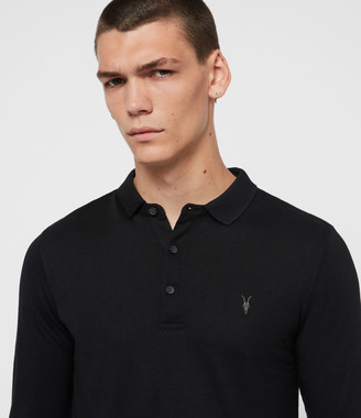 AllSaints Parlour Long Sleeve Polo Shirt