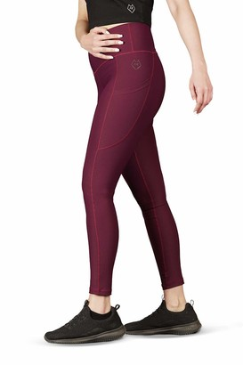 Alpha Kleid Women Yoga Leggings | For Every Day Use | High-Waist Fit With Compressive Seamless Waistband | Dual Side pockets With a Tapered Point | Soft Brushed Feel (Large)