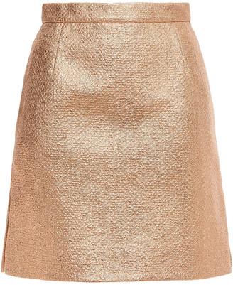 Carven Metallic Cotton-blend Cloque Mini Skirt
