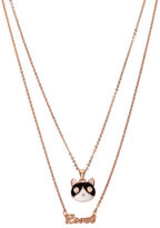 Betsey Johnson Betsey Gifting Cat Lover 2 Row Necklace
