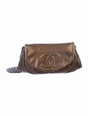 Chanel Half Moon Wallet On Chain Brown
