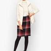 Talbots Wool Blend A-Line Skirt - Plaid