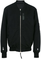 11 By Boris Bidjan Saberi printed zip up bomber jacket - men - Cotton/Polyamide/Polyester - S