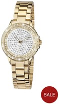 Limit Gold Plated Crystal Set Dial Bracelet Ladies Watch