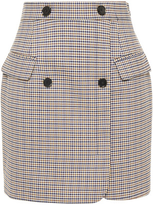 Claudie Pierlot Houndstooth Jacquard Mini Skirt
