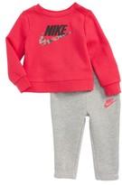 Nike Infant Girl's Fleece Sweatshirt & Sweatpants Set