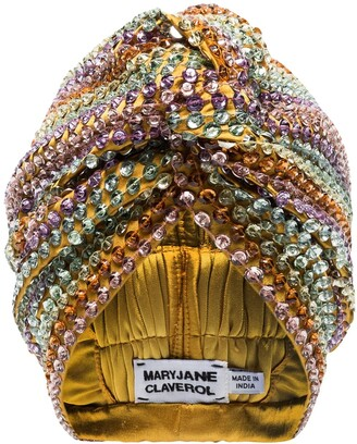 MaryJane Claverol Malibu beaded sequin turban