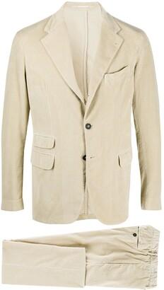 Massimo Alba Single-Breasted Corduroy Suit