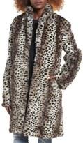 Somedays Lovin Leopard Print Faux Fur Coat