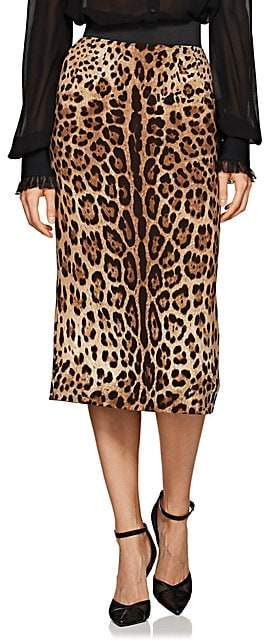 Dolce & Gabbana Women's Leopard-Print Pencil Skirt