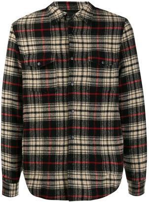 Aspesi long-sleeved plaid shirt