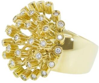 Carla Amorim 18kt yellow gold Danelion diamond ring