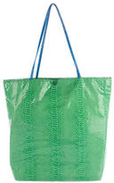 Carlos Falchi Embossed Leather Tote