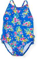 Ralph Lauren Floral Cross-Back Swimsuit