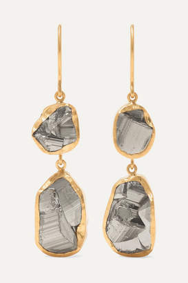 Pippa Small 18-karat Gold Pyrite Earrings - one size