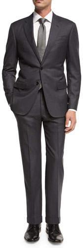 Giorgio Armani Soft Basic Wool Two-Piece Suit, Gray