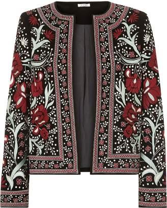 Vilshenko Regan Embroidered Velvet Jacket