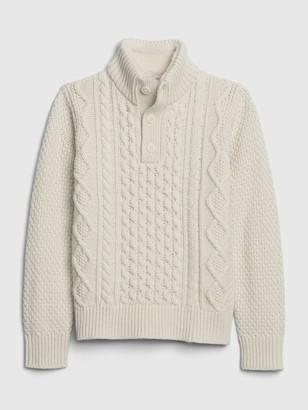 Gap Kids Cable Knit Mockneck Sweater