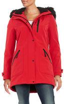 Calvin Klein Faux Fur-Trimmed Hooded Anorak Coat