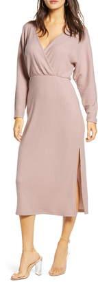 ALL IN FAVOR Cozy Ribbed Midi Dress