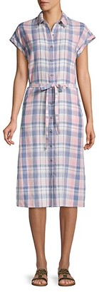 Saks Fifth Avenue Plaid Button-Front Shirtdress