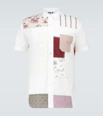 Junya Watanabe Patchwork cotton jacquard shirt