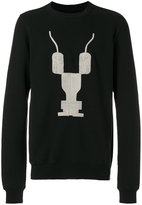 Rick Owens patterned crew neck sweatshirt