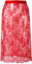 Maison Margiela sheer lace skirt - women - Polyamide/Polyurethane/Viscose - 40