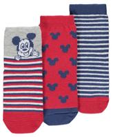 George 3 Pack Disney Mickey Mouse Ankle Socks