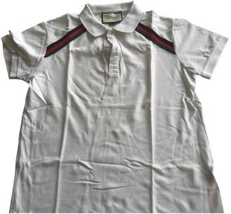 Gucci White Cotton Polo shirts