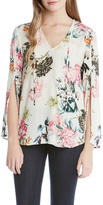 Fifteen-Twenty Fifteen Twenty Floral Split Sleeve Top