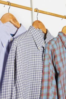 Urban Renewal Vintage Blue Check Ralph Lauren Shirt - Blue S/M at Urban Outfitters