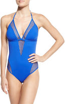 LaBlanca La Blanca All Meshed Up Halter One-Piece Swimsuit