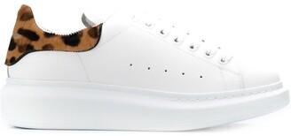 Alexander McQueen leopard print oversized low-top sneakers