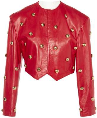 N. Non Signé / Unsigned Non Signe / Unsigned \N Pink Leather Jackets