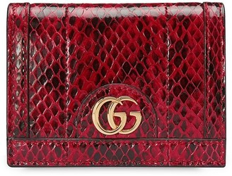 Gucci Ophidia snakeskin-effect cardholder