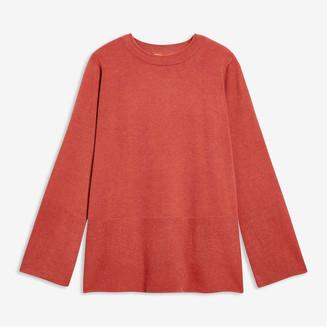 Joe Fresh Women+ Rib Trim Sweater, Dusty Red (Size 3X)