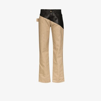Bottega Veneta Coated Straight Leg Trousers