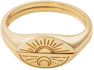 Wanderlust + Co Sun & Moon Gold Ring Set