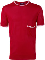 DSQUARED2 contrast trim T-shirt - men - viscose - S