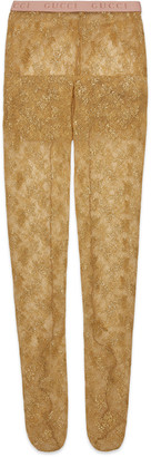 Gucci Metallic lace tights