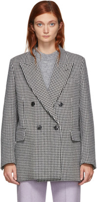 Ami Alexandre Mattiussi Black and White Oversized Blazer