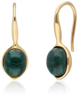 Gemondo Irregular Malachite Drop Hook Earrings
