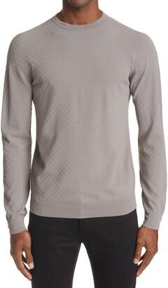 Giorgio Armani Tonal Texture Crewneck Sweater