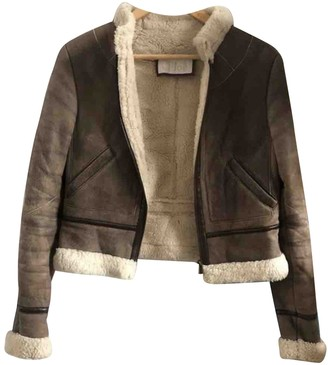 Chloé Brown Shearling Leather Jacket for Women