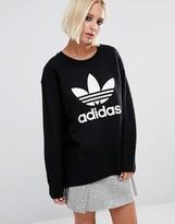 adidas Boiled Wool Sweatshirt With Trefoil Logo