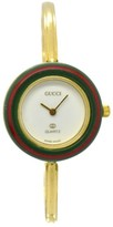 Gucci 1100-L Gold Plated Bezel Changes Color 26mm Womens Watch