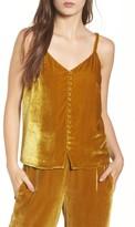 Madewell Women's Velvet Button Camisole