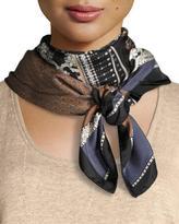 Lafayette 148 New York Piazetta Patchwork Silk Scarf